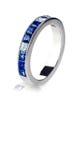 Μπλε δαχτυλίδι πολύτιμων λίθων Στοκ Εικόνες