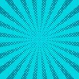 Μπλε λαϊκές ακτίνες τέχνης, διανυσματικό υπόβαθρο ελεύθερη απεικόνιση δικαιώματος