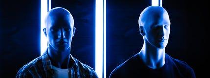 Μπλε αδελφοί Στοκ Φωτογραφίες