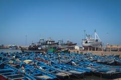 μπλε αλιεία βαρκών Στοκ Φωτογραφίες