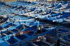 Μπλε αλιευτικά σκάφη στοκ εικόνες