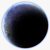 Μπλε αλλοδαπός πλανήτης Στοκ Εικόνες