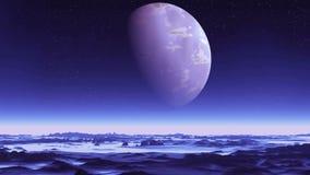 Μπλε αλλοδαπός πλανήτης απόθεμα βίντεο