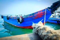 μπλε βάρκα Στοκ Εικόνες