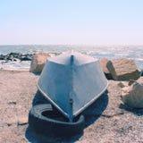 μπλε βάρκα Στοκ Εικόνα
