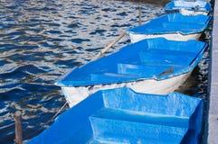 μπλε βάρκες Στοκ Εικόνα