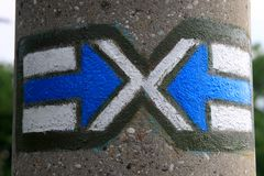 Μπλε βέλη Στοκ Φωτογραφία