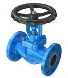 Μπλε βιομηχανική βαλβίδα ελεύθερη απεικόνιση δικαιώματος
