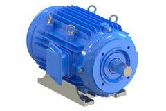 Μπλε βιομηχανικός ηλεκτρικός κινητήρας διανυσματική απεικόνιση