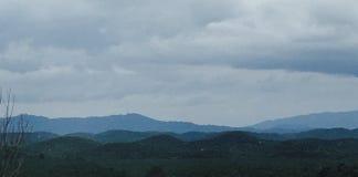 μπλε βουνό τοπίων στοκ εικόνα