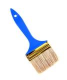 Μπλε βούρτσα χρωμάτων στο λευκό Στοκ Εικόνες