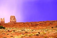 Μπλε βροχή ερήμων στοκ εικόνα