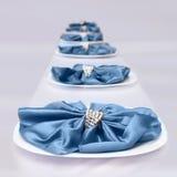 Μπλε γαμήλια διακόσμηση Στοκ εικόνες με δικαίωμα ελεύθερης χρήσης