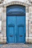 Μπλε γαλλική πόρτα Στοκ Εικόνα
