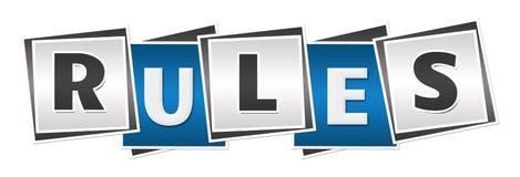 Μπλε γκρίζοι φραγμοί κανόνων Στοκ Φωτογραφίες