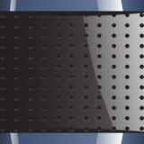 Μπλε γκρίζο υπόβαθρο με τις στρογγυλές τρύπες Απεικόνιση αποθεμάτων