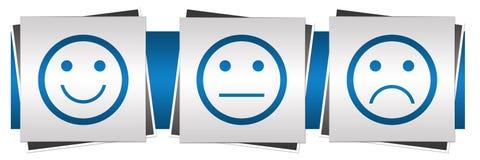 Μπλε γκρι προσώπων χαμόγελου ουδέτερο λυπημένο Στοκ φωτογραφίες με δικαίωμα ελεύθερης χρήσης