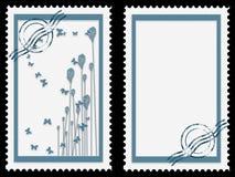 μπλε γραμματόσημα Στοκ Εικόνα