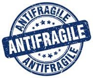 Μπλε γραμματόσημο grunge Antifragile απεικόνιση αποθεμάτων