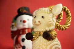 μπλε γυαλί σύνθεσης Χριστουγέννων μπιχλιμπιδιών Σύμβολο 15 νέου έτους Στοκ Φωτογραφία