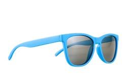Μπλε γυαλιά ήλιων που απομονώνονται Στοκ Εικόνα
