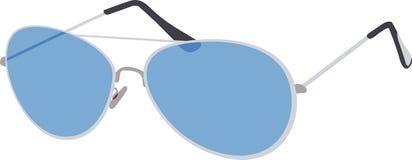 μπλε γυαλιά ηλίου Ελεύθερη απεικόνιση δικαιώματος