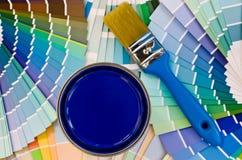 Μπλε δείγμα χρωμάτων. Στοκ εικόνες με δικαίωμα ελεύθερης χρήσης