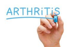 Μπλε δείκτης αρθρίτιδας στοκ φωτογραφίες