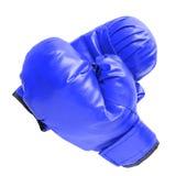 Μπλε εγκιβωτίζοντας γάντια στο λευκό Στοκ εικόνα με δικαίωμα ελεύθερης χρήσης