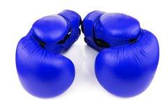 μπλε εγκιβωτίζοντας γάντια Στοκ εικόνες με δικαίωμα ελεύθερης χρήσης