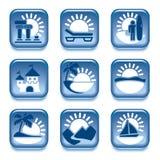 Εικονίδια των θερινών δραστηριοτήτων ελεύθερη απεικόνιση δικαιώματος