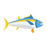 Μπλε εικονίδιο ψαριών τόνου διανυσματική απεικόνιση