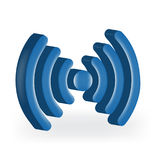 Μπλε εικόνα σημάτων δικτύων Ίντερνετ Στοκ φωτογραφία με δικαίωμα ελεύθερης χρήσης