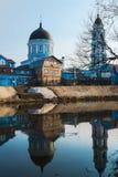 Μπλε εκκλησία Στοκ εικόνα με δικαίωμα ελεύθερης χρήσης