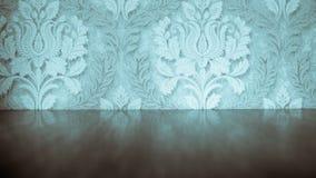 Μπλε εκλεκτής ποιότητας παλαιά ταπετσαρία Στοκ φωτογραφίες με δικαίωμα ελεύθερης χρήσης