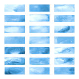Μπλε εμβλήματα χρώματος που σύρονται με τους δείκτες της Ιαπωνίας Μοντέρνα στοιχεία για το σχέδιο Διανυσματικό κτύπημα δεικτών Στοκ εικόνα με δικαίωμα ελεύθερης χρήσης