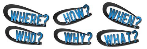 Μπλε εμβλημάτων ερωτήσεων Στοκ εικόνα με δικαίωμα ελεύθερης χρήσης