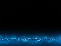Μπλε εορταστικό κομψό αφηρημένο υπόβαθρο Χριστουγέννων με τα φω'τα bokeh Στοκ φωτογραφία με δικαίωμα ελεύθερης χρήσης