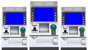 Μπλε επίδειξη οθόνης μηχανών του ATM (επανάληψη) διανυσματική απεικόνιση