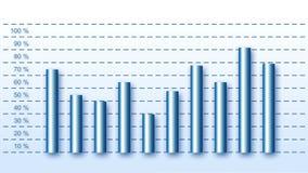 Μπλε επιχειρησιακά βαρέλια, θετική καμπύλη, μέγιστα σημεία ελεύθερη απεικόνιση δικαιώματος