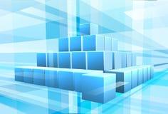 Μπλε επιχειρησιακό υπόβαθρο φραγμών ελεύθερη απεικόνιση δικαιώματος