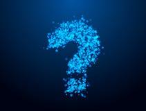 Μπλε ερώτηση Στοκ Φωτογραφίες