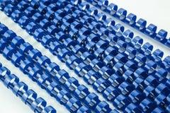 Μπλε δεσμευτικά ελατήρια Στοκ εικόνα με δικαίωμα ελεύθερης χρήσης
