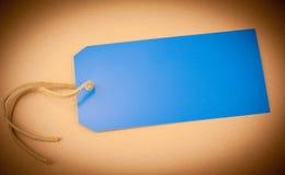 Μπλε ετικέττα Στοκ Εικόνες