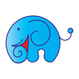 Μπλε ελέφαντας κινούμενων σχεδίων Στοκ εικόνα με δικαίωμα ελεύθερης χρήσης