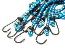 Μπλε ελαστικά σκοινιά bungee στοκ φωτογραφίες