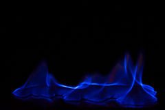 Μπλε ελαφρύ αφηρημένο υπόβαθρο πυρκαγιάς Στοκ Εικόνες