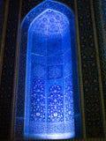 Μπλε ελαφρύ μουσουλμανικό τέμενος Παρασκευών Στοκ Φωτογραφία