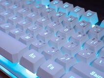 Μπλε ελαφρύ πληκτρολόγιο Στοκ Εικόνα