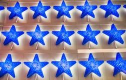 Μπλε ελαφρύ σχέδιο αστεριών στοκ φωτογραφία με δικαίωμα ελεύθερης χρήσης